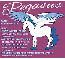 Pegasus With Title Photographic Print