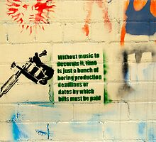 Music is Life - Street Poster 01 by tano