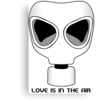 Love Is In The Air, Gas Mask, Anti Valentines Day Canvas Print