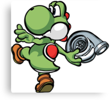 Yoshi throwing turbo Canvas Print