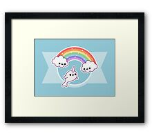 Flying Narwhal Framed Print