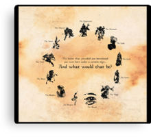 Elder Scrolls: Birth-signs Canvas Print