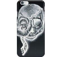 White Inverted Skull iPhone Case/Skin