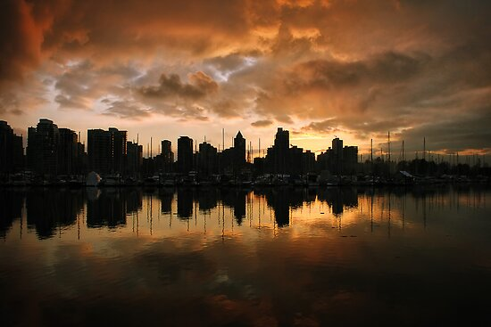 Sunset on Vancouver by Gino Caron