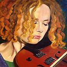 Concentration~Portrait of Mary Custy by Kevin Mulligan