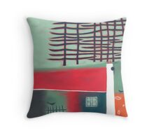 House with Pines Throw Pillow