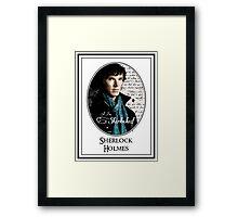 Benedict Cumberbatch, Sherlock Holmes - I Am Sherlocked Framed Print
