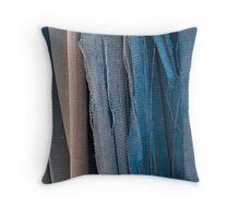 Blue Nets Throw Pillow
