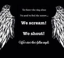 Black Veil Brides Fallen Angels Lyrics and Angel Wings by lilsakins