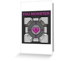 You Monster (dark) Greeting Card