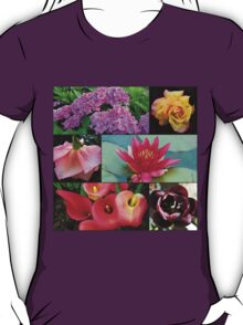 Favourite Flowers Collage T-Shirt