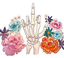 Passive Aggressive Skeleton Hand? by christinel
