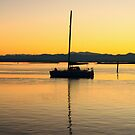 Yacht Reflected by Faith Barker Photography