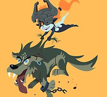 Link and Midna by nealdanderson
