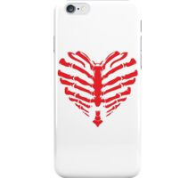 Valentines Ribs Skeleton Heart iPhone Case/Skin