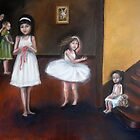 Girls in White Dresses by Sandra  Aguirre