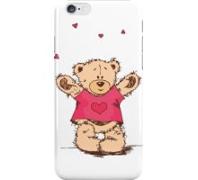 Cute Teddy Bear With Arm Open  iPhone Case/Skin
