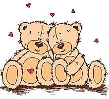Cute Teddy Bear Valentine Photographic Print