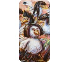 Birds in Wigs on Products iPhone Case/Skin