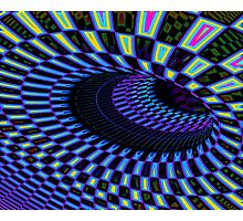 Tumbler No. 28 - Psychedelic Groovy Optical Illusion Geometric Pattern Photographic Print