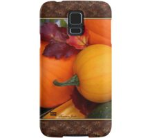 Pumpkins, Gourds and Maple Leaves Samsung Galaxy Case/Skin