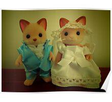 Sylvanian Families ~ Cat Wedding Bride and Groom Poster