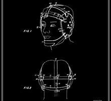 Wrestling Helmet Patent - Black by FinlayMcNevin