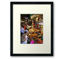 Spice Bazaar Framed Print
