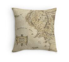 Middle Earth Map Throw Pillow