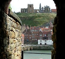 whitby, st. mary's church and the abbey by dougie1
