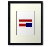 House Of Cards Flag Framed Print