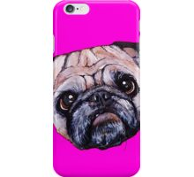 Butch the Pug - Pink iPhone Case/Skin