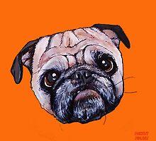 Butch the Pug - Orange by PAINTMYPUG