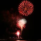 fire in the sky on the 4th of July by Lacy O.
