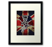 Union Jack Punk Skull Framed Print