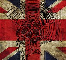 Union Jack Punk Skull - outline by SquareDog