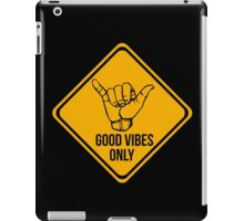 Good vibes!! Music is the answer! iPad Case/Skin