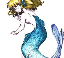 Mermaid [Blank Background] by Amber Werden