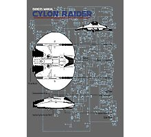 Owners Manual - Cylon Raider Photographic Print