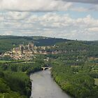 Beynac from Castle Nord by Richard Elston