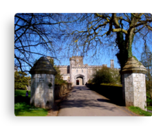 Entrance to Powderham Castle Canvas Print