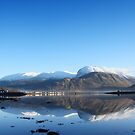 Ben Nevis on a cold December afternoon. by John Cameron
