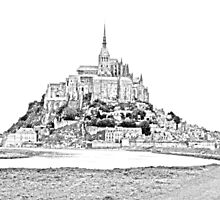 Mont St Michel, France by alexdee