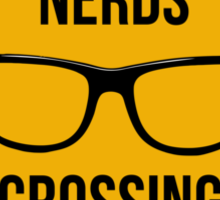 Nerds crossing!!! Sticker