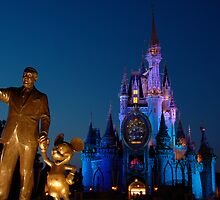 Walt, Mouse, and Castle by unflux