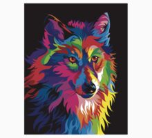 Colorful Wolf Kids Clothes