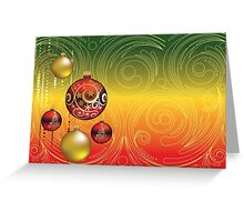 Red and Gold Christmas Balls 2 Greeting Card
