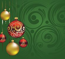 Red and Gold Christmas Balls 3 by AnnArtshock