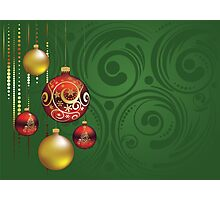 Red and Gold Christmas Balls 3 Photographic Print
