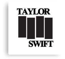 taylor swift black flag logo Canvas Print